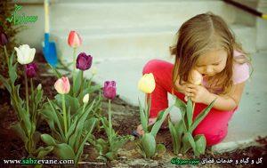 تاثیر ارتباط کودک با طبیعت و گیاهان